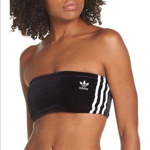 NWT Adidas Originals Velour Three Stripes Bandeau